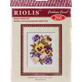 RIOLIS Combopu Cama 5\u0027\u0027x6.25\u0027\u0027 Counted Cross Stitch Kit-Pansy Letter