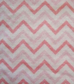 Snuggle Flannel Fabric -Pink Chevron