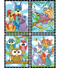 Dimensions Pencil Works Color By Number Kit-Animal Trios