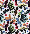 Snuggle Flannel Fabric -Colorful Music
