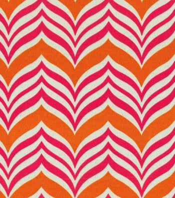 "Home Decor 8""x8"" Fabric Swatch-Pkaufmann Ripple Effect Tiger Lily"