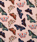 Doodles Collection Fabric -  Majestic Interlock Butterfly Pink