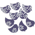 Favorite Findings 8 pk 1.13\u0027\u0027 Buttons-For the Birds