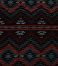 Sportswear Jacquard Fabric 57\u0022-Orange & Black Triangle Aztec