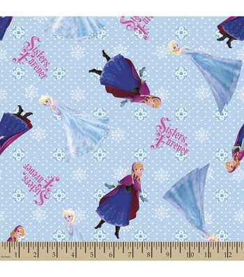 Disney Frozen Print Fabric-Sisters Forever