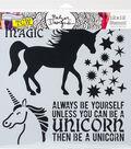 Crafter\u0027s Workshop Julie Fei-Fan Balzer Template 12\u0027\u0027x12\u0027\u0027-Unicorn