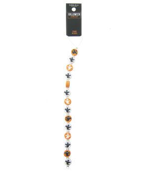 hildie & jo Halloween Strung Beads-Orange Ivory Bat