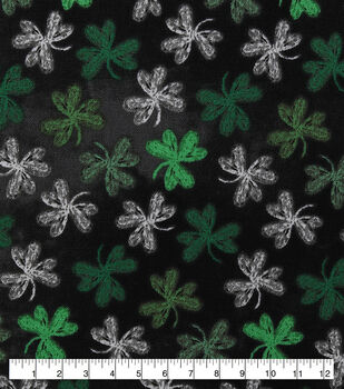 St. Patrick's Day Cotton Fabric-Chalkboard Clovers