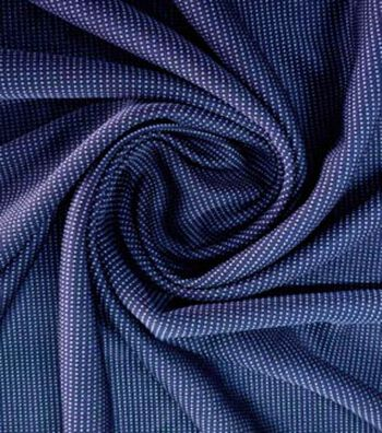 Loungeletics Reversible Quick Dry Knit Fabric 31''-Blue