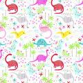 Super Snuggle Flannel Fabric-Pattern Trap Dino