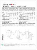 Vogue Patterns Misses Top-V8924