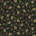 Premium Quilt Cotton Fabric-Delicate Flowers Black Metallic