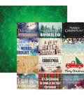 Christmas Spirit Double-Sided Cardstock 12\u0022X12\u0022-Christmas Spirit