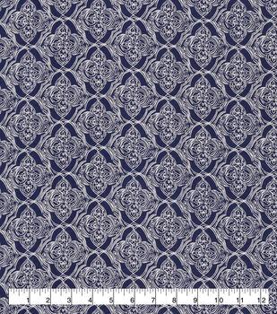 Snuggle Flannel Fabric-Floral Quatrefoils