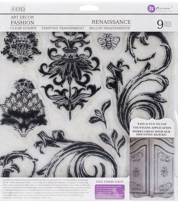 Iron Orchid Designs Art Decor 9 pk Fashion Clear Stamps-Renaissance
