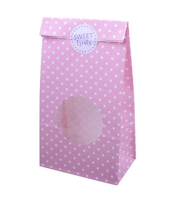 Easter 10 pk Treat Bags with Scalloped Window-Polka Dots
