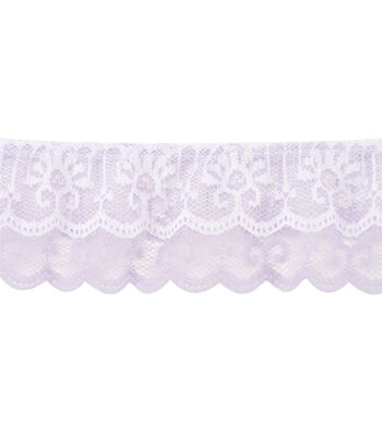 """2"""" 2-Tier Ruffled Lace"""