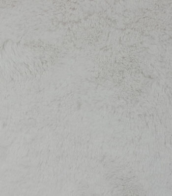 Fashion Faux Cheshire Fur Fabric -White