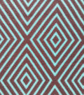 Southwest Fabric- Large Diamond Brwn Turqoise Fleece