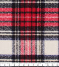 Anti-Pill Plush Fleece Fabric-Traditonal Distressed Plaid