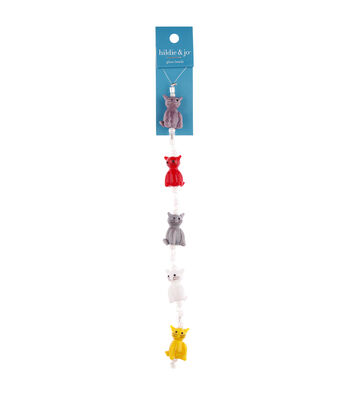 """hildie & jo 7"""" Crystal Glass Cat Strung Beads-Multicolor"""
