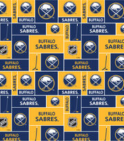 Buffalo Sabres Cotton Fabric -Block, , hi-res
