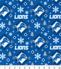Detroit Lions Flannel Fabric-Holiday