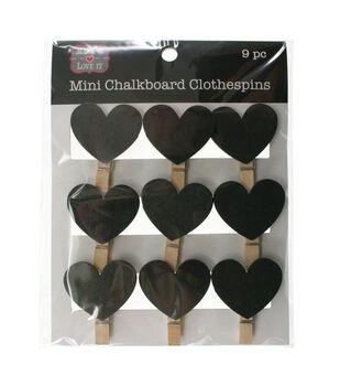 Make It Love It Chalkboard Clothespins Hearts