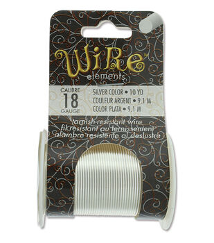 Wire Elements 18 Gauge 10yds Tarnish-Resistant Wire-Silver