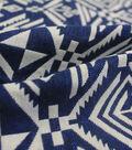 Earth Child Apparel Jacquard Fabric 55\u0022-Navy Aztec