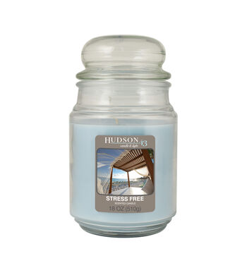 Hudson 43 Candle & Light Collection 18oz Value Jar Stress Free