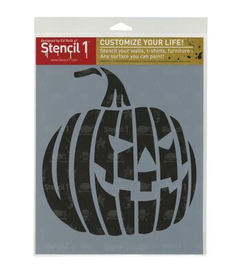 Stencil 1 Customize Your Life! 8.5''x11'' Stencil-Jack-O-Lantern 1