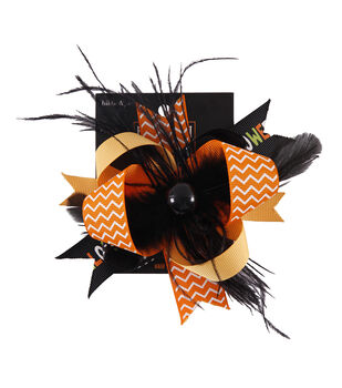 hildie & jo Halloween Jewelry Feather Hair Clip