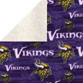 Minnesota Vikings Fleece Fabric-Sherpa