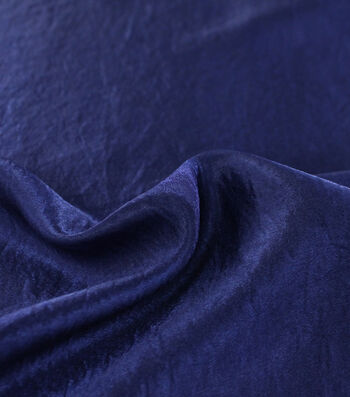 Casa Collection Crushed Satin Fabric 54''-Mazarine Blue