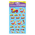 Construction Vehicles superShapes Stickers-Large 200 Per Pack, 12 Packs