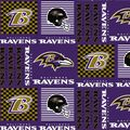 Baltimore Ravens Cotton Fabric -Patch
