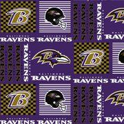 Baltimore Ravens Cotton Fabric -Patch, , hi-res