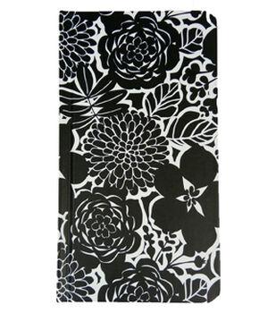 Park Lane 4''x7.5'' Journal-Black & White Floral