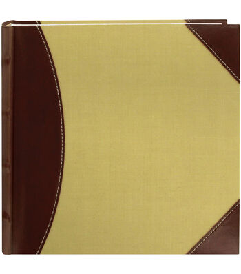 "2-Up High Capacity 8""X8"" Photo Album 300 Pocket-Brown/Beige"