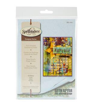 Spellbinders Seth Apter Large Embossing Folder-Gridiron