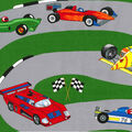 Novelty Cotton Fabric Panel-Race Track