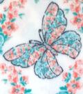 Anti-Pill Fleece Fabric -Wildflower Butterflies