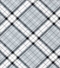 Quilter\u0027s Flannel Fabric-Gray Riley Plaid