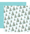 Santa\u0027s Workshop Double-Sided Cardstock 12\u0022X12\u0022-Oh Christmas Tree