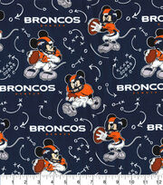 Denver Broncos Cotton Fabric-Mickey Mouses, , hi-res