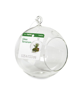 """Maker's Holiday Craft Glass Terrarium 5.25"""""""