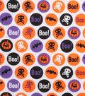 Holiday Showcase Halloween Cotton Fabric 43\u0022-Boo! Circles