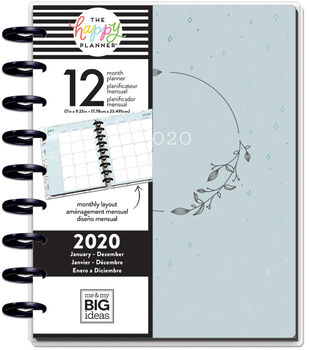 The Happy Planner Classic 2020 Dated Planner-Dainty Details Teal