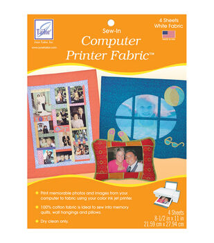 June Tailor Computer Printer Fabric 4/Pkg